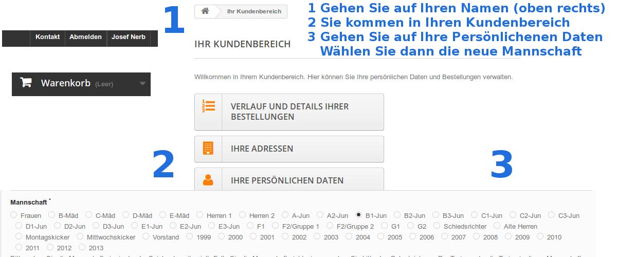 online Bestellsystem PTSV