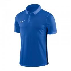 Nike Poloshirt/Polyester  in Blau (ohne Aufdruck)