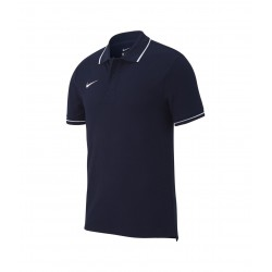 Nike Team Club 19 Poloshirt  in Blau (mit Aufdruck)