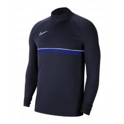 Nike Drill Top in  Dunkelblau (mit Aufdruck)
