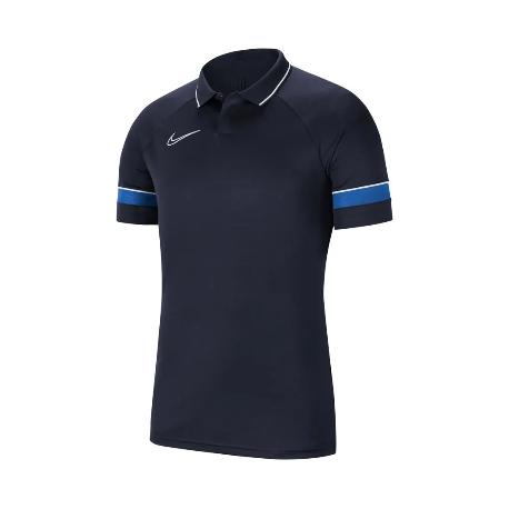Nike Poloshirt/Polyester  in Dunkelblau (mit Aufdruck)