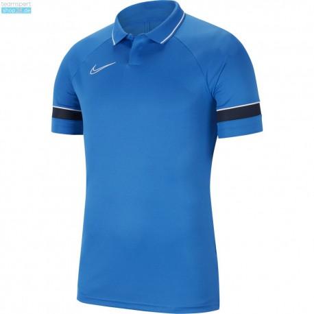 Nike Poloshirt/Polyester  in Blau (mit Aufdruck)