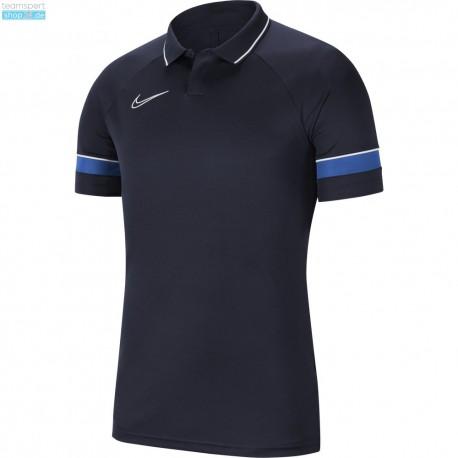 Nike Poloshirt/Polyester  in Dunkelblau (ohne Aufdruck)