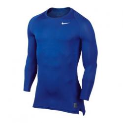 Nike Pro Compression LS Shirt blau F480